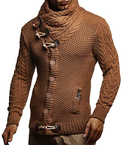 Leif Nelson Men's Knitted Jacket Turtleneck Cardigan Winter Pullover Hoodies Casual Sweaters Jumper LN4195 17 Fashion Online Shop gifts for her gifts for him womens full figure