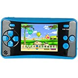 HigoKids Handheld Game Console for Kids Portable Retro Video Game Player Built-in 182 Classic Games 2.5 inches LCD Screen Family Recreation Arcade Gaming System Birthday Present for Children-Blue