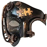 Storm Buy] Steampunk Style Phantom Metallic Half Face Men Masquerade Ball Mask Prom Party (Copper)