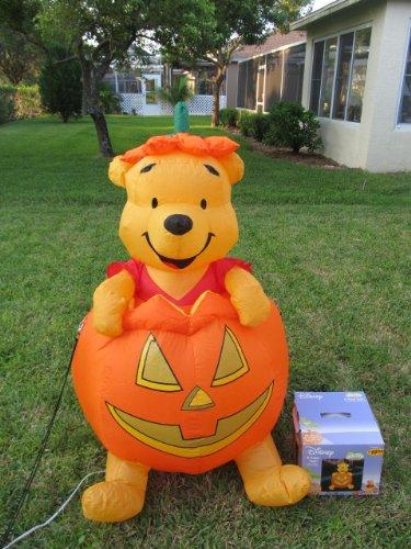 Gemmy Inflatable Winnie The Pooh Pumpkin 4 Airn Yard Decor