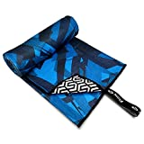 Flow Sand Free Swim Towel - Quick Dry Sport Towel for Swimming and The Beach Available in 2 Sizes and 3 Patterns (Accelerate, Large (60' x 30'))