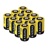 Thten CR2 Battery 3V Lithium 800mAh 12 Pack with PTC Protection DL-CR2 Photo Battery for Golf Rangefinder Baby Monitor Flashlight Mini 55 Baby Monitor Flashlight