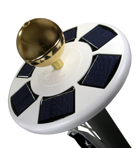 Solar Flag Pole Flagpole Light By Deneve - Brightest, Most Powerful, Longest-Lasting & Most Flag Coverage with Flagbeam Technology - LED Downlight for Most 15 to 25 Ft Flag Pole for Night Lighting