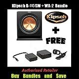 Klipsch R-115SW 15' Reference Series Powered 800 Watt Subwoofer + Klipsch WA-2 Wireless Subwoofer Kit
