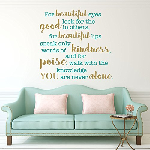 For Beautiful Eyes Look for the Good in Others Wall Decal Quote