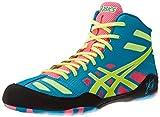 Asics Men's JB Elite Wrestling Shoe,Teal/Flash Yellow/Pink,8.5 M US/40.5 EU