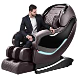 Massage Chair by Ootori,3D SL-Track Thai Yoga Stretching Zero Gravity Massage Chair,Full Body Shiatsu Massage Chairs Recliner with Tapping, Heating and Foot Roller Massager((brown)