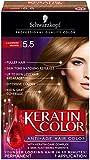 Schwarzkopf Keratin Color Anti-Age Hair Color Cream, 5.5 Cashmere Brown