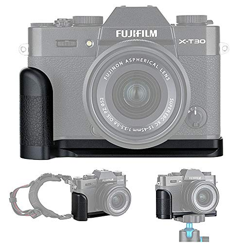 JJC-Metal-Hand-Grip-Quick-Release-Plate-L-Bracket-Holder-for-Fujifilm-X-T30-X-T20-X-T10-Replaces-Fuji-MHG-XT10-Handgrip-2019-September-New-Improved-Version