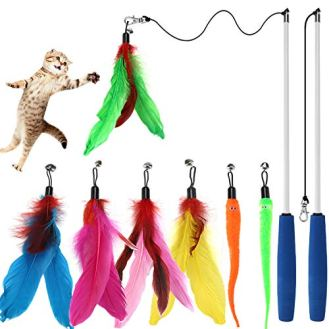 Cat-Toys-Interactive-Cat-Feather-Wand-Kitten-Toys-2pcs-Retractable-Cat-Wand-Toy-7pcs-Natural-Feather-Teaser-Replacements-with-Bell-Telescopic-Cat-Fishing-Pole-Toy-for-Indoor-Kitty-Old-Cat-Exercise