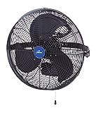 iLIVING ILG8E18-15 Wall Mount Outdoor Waterproof Fan, 18', Black