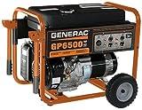 Generac 5976 GP6500 6500 Running Watts/8000 Starting Watts Gas Powered Portable Generator - CSA Compliant