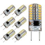 Reelco G8 LED Bulb Dimmable Mini 2.5Watt Daylight White 6000K 120V T4 G8 Base Bi-pin 20W Halogen Xenon Replacement, T4 JCD Type, Light Bulb for Kitchen Light (6-Pack)