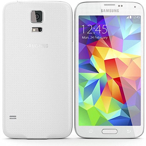 Samsung Galaxy S5 SM-G900T - 16GB - Shimmery White Smart Phone - Unlocked (Renewed)