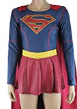 Supergirl Costume Halloween Puffy Paint Jumpsuit with Cape