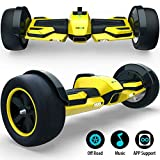 Gyroor G-F1 Hoverboard,8.5' Off Road Hover Board with Bluetooth Speaker&LED Lights,Fastest Racing Self Balancing Scooter with App for Kids and Adult,UL2272 Certified(Yellow)
