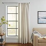 Stone & Beam Southwestern Rustic Curtain, 84' x 52', Light Gray