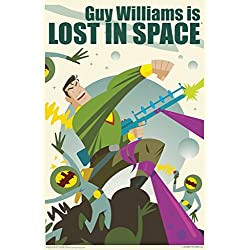 Guy Williams Is Lost In Space by Juan Ortiz Art Print Poster 12x18