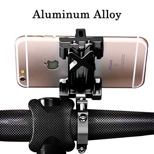 "SpoLite Universal Premium Bike Phone Mount for Motorcycle - Bike Handlebars, Adjustable, Fits iPhone X, 8 | 8 Plus, 7 | 7 Plus, iPhone 6s | 6s Plus, Galaxy S7, S6, S5, Holds Phones Up To 3.94"" Wide"