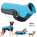 Didog Reflective Dog Winter Coat Sport Vest Jackets Snowsuit Apparel - 8 for Small Medium Large Dogs,Blue,4XL Size