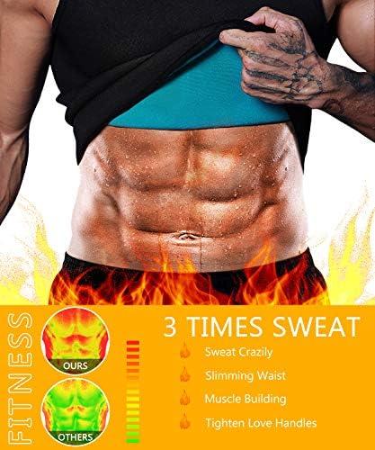 Men Neoprene Waist Trainer Sauna Sweat Suit Workout Vest Tank Top Tummy Control Shapewear Slimming Body Shaper 2
