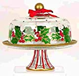 Christmas cake plates, holiday cake plate, cake plates,Christmas pedestal cake plates,cake plates with dome