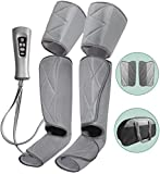 Leg Massager for Circulation - Foot and Calf Massager Air Compression Leg & Thigh Wraps Massage Boots Machine for Home Use Relaxation with Controller - Stocking Stuffers Gift