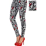 Costumes USA Cat in the Hat Leggings for Adults, Dr. Seuss Costume Accessories, One Size Fits Most