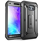 SUPCASE Galaxy S6 Active Case, Unicorn Beetle PRO Series Full-Body Rugged Holster Case with Built-in Screen Protector for Samsung Galaxy S6 Active 2015 Release Only, Not for Galaxy S6 (Black)