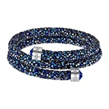 Swarovski Medium Blue Double Crystaldust Bangle