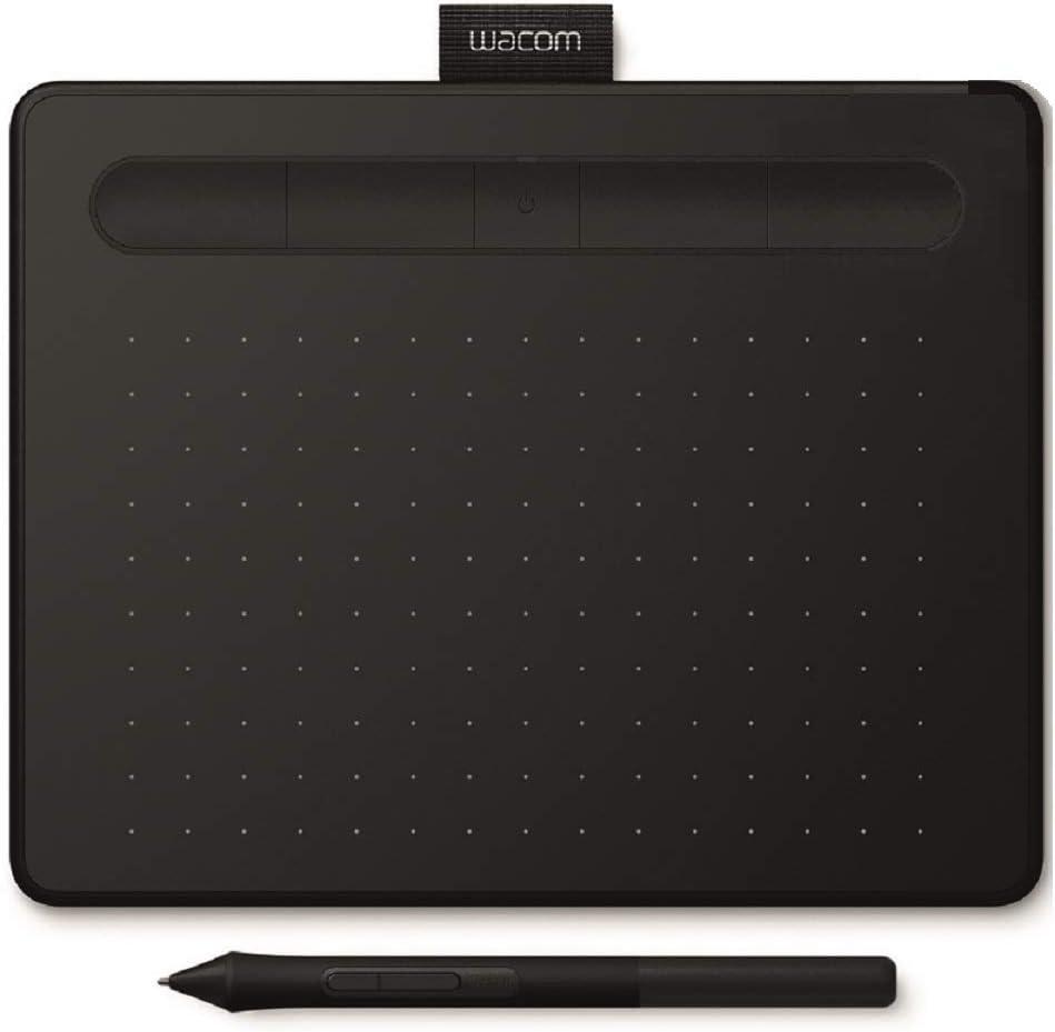 Wacom Intuos S Bluetooth,Noir-Tablette graphique sans fil pour la peinture,le dessin & la retouche photo, 2 logiciels créatifs à télécharger,Idéal pour le télétravail et la formation en ligne