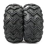 MILLION PARTS One pair of P306B ATV/UTV Rear Tires AT 25x10-12/6 Ply Black