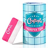 Craftopia transfer paper tape roll 6 inch x 50 feet clear with blue...