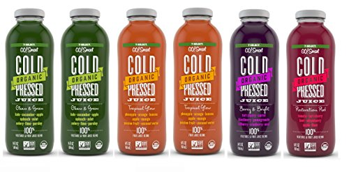 7-Select Organic Cold Pressed Juice - Variety Pack (14 Oz, 6-Pack)