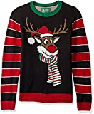 Product review for Ugly Christmas Sweater Men's Reindeer Poopermints Sweater