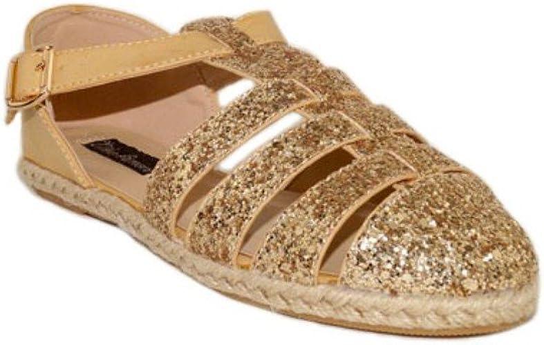 NIKO CANGREJERAS Purpurina 19327 Sandalias de Mujer Purpurina Dorada Oro