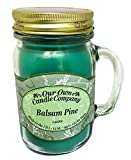 Our Own Candle Company Balsam Pine Scented 13 Ounce Mason Jar Candle