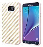 Kate Spade New York Flexible Hardshell Case for Samsung Galaxy Note 5 - Gold Diagonal Stripe