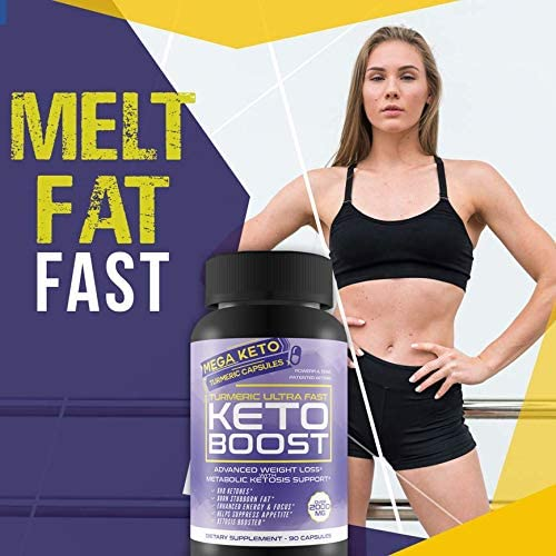 Turmeric Ultra Fast Keto Boost - 2180 MG Keto Max Power Formula - Reduce Appetite - Balance Metabolism - Release Fat Stores - Keto Boost Keto Pills - Keto Bhb Turmeric & Ginger Capsules 7