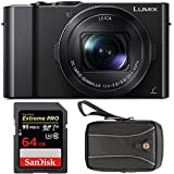 Panasonic LUMIX DMC-LX10K Digitral Camera with 64GB SD Card and Case