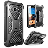 i-Blason Case Compatible with Galaxy S7 Active, [Heavy Duty] [Dual Layer] Holster Cover case with [Locking Belt Swivel Clip] for Galaxy S7 Active (Black)