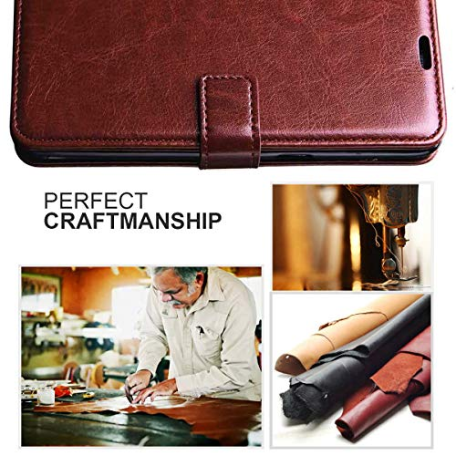 Jkobi Vintage Flip Case Cover for Oppo F15 | Premium Leather | Inner TPU | Foldable Stand | Wallet Card Slots -Brown 7