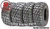 Set of 4 Premium FREE COUNTRY ATV/UTV Tires 25x8-12 Front & 25x10-12 Rear / 8PR w/Side Scuff Guard