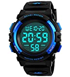 Boys Watches Waterproof Sports LED Digital Kids Teens Watch with Alarm Stopwatch Timer Blue