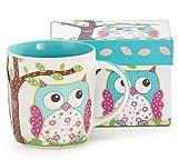 Burton & Burton Calico Owl Mug, 14oz