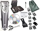 Oster 2-Speed Outlaw Dog Animal Clipper With Case,DVD,Shears And #10 Blade A5 with 10 piece comb guide set.