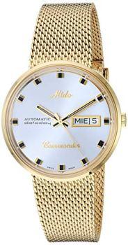 Mido Men's M8429.3.21.1 Analog Swiss Automatic Gold Plated Watch