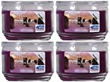 Mainstays 11.5oz Scented Candle, Purple Sands 4-pack