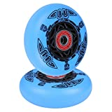 AOWISH 2-Pack 76mm Ripstik Wheels 90A Outdoor Ripstik Caster Board Replacement Wheel with Bearings ABEC-9 (Blue)