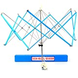 Tebery Umbrella Swift Yarn Winder with Case Hand Operated Ball Winder Holder Knitting Tool (Blue)